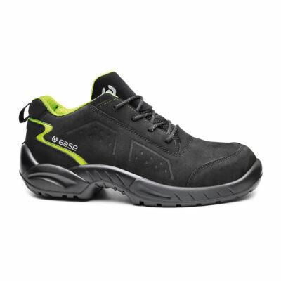 BASE Chester cipő S3 SRC fekete/zöld