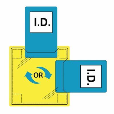 Dupla azonosítókártya tartó - varrható PVC