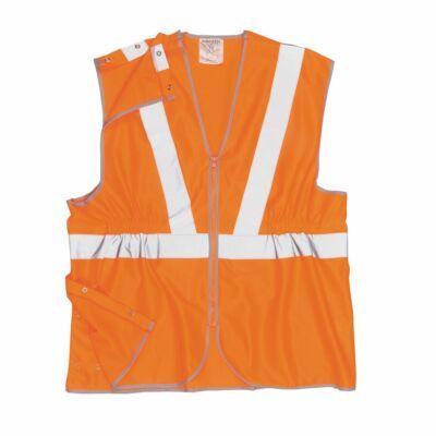 Jól Láthatósági Zippzáras Hosszított Mellény Vasúti dolgozók részére