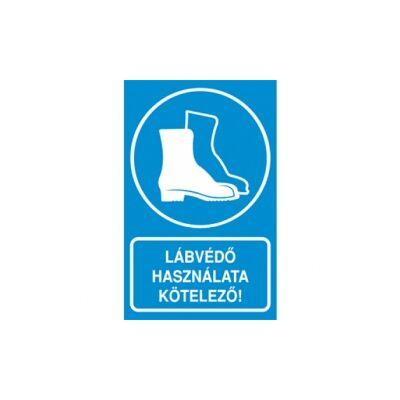 Lábvédő használata kötelező! Vinil matrica 160x250