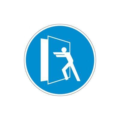 Az ajtó zárva tartandó! Vinil matrica 20x20