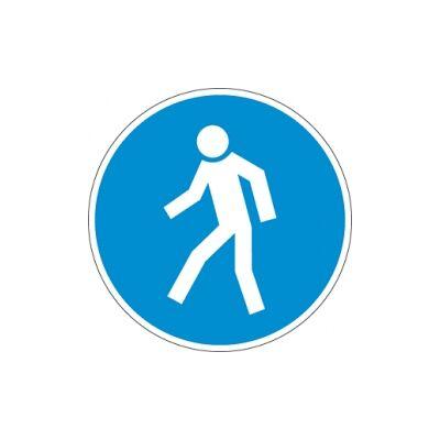 Gyalogosok részére! Vinil matrica 20x20