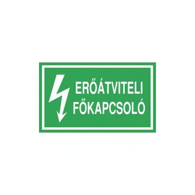 Erőátviteli főkapcsoló Vinil matrica 100x60