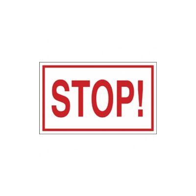 Stop! Vinil matrica 100x60