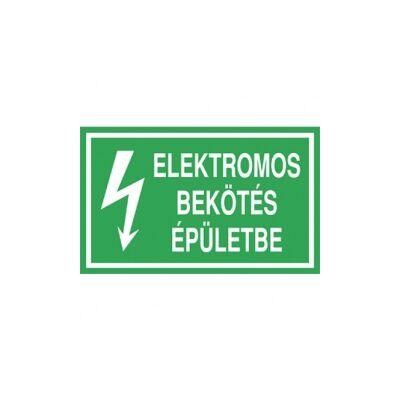Elektromos bekötés, épületbe Vinil matrica 100x60