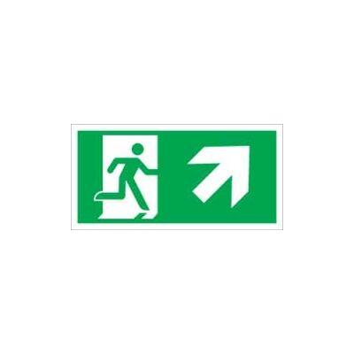 Menekülési út jobbra, lépcsőn fel (ISO) Vinil matrica 20x20