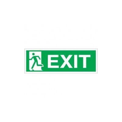 Exit (felirat + piktogram, ISO) Vinil matrica 297x100