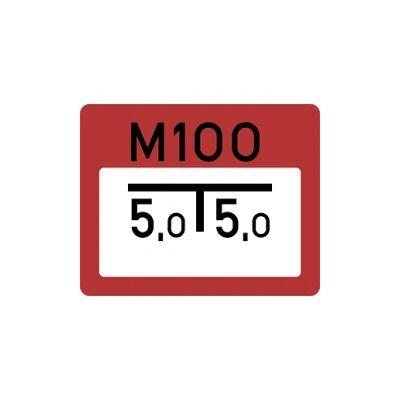 Medencét jelző tábla Horganyzott lemez Tábla 250x200