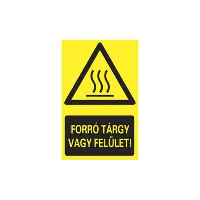 Forró tárgy vagy felület Vinil matrica 160x250