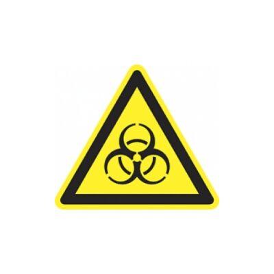 Biológiai veszély! Vinil matrica 20x20