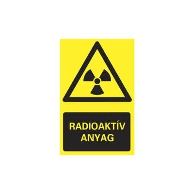 Radioaktív anyag! Vinil matrica 160x250