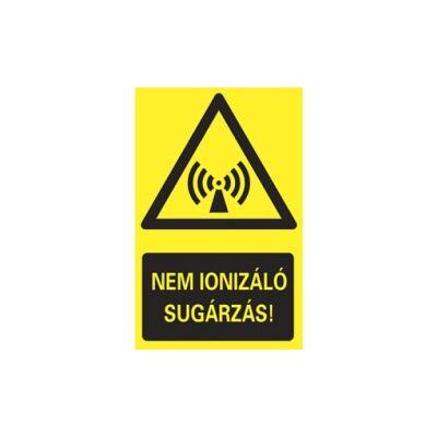 Nem ionizáló sugárzás Vinil matrica 160x250