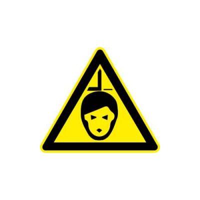 Vigyázz! Fejsérülés veszélye! Vinil matrica 50